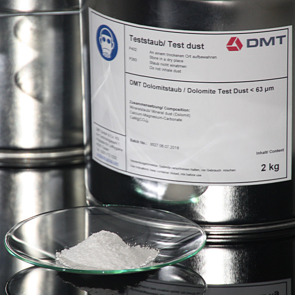 DMT Dolomite Test Dust up to 63 my
